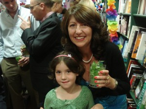 Nicole and her mum at the launch of One Kiss in Havana in Malahide Books