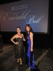 Jacqueline Quinn and Michelle at the Texas Emerald Ball.